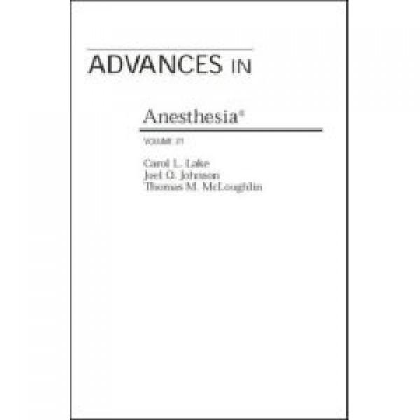 Advances in Anaesthesia volume 21